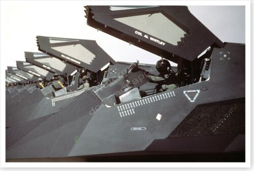 F-117 Stealth Fighters In Flight Line Operation Desert Storm 8 x 12 PhotoReproductions - 156449
