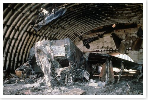 Iraqi Aircraft Ruins In Hanger Operation Desert Storm 8 x 12 PhotoReproductions - 156449