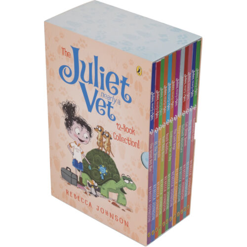 NEW The Juliet Nearly A Vet 12 Books Collection Set Slipcase by Rebecca Johnson