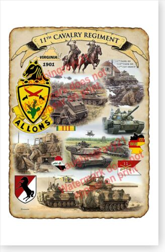US Army 11th Armored Cavalry Regiment Black Horse 2017 Poster