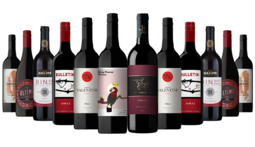 7500+ SOLD! AU Shiraz Red Wines Mixed 12x750ml RRP$299 Free Shipping/Returns