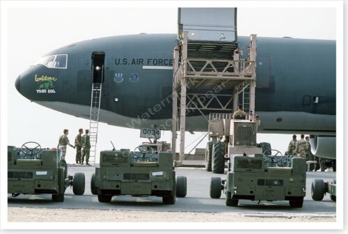 Bomb Lifts Being Loaded On KC-10A Extender Operation Desert Storm 8 x 12 PhotoReproductions - 156449