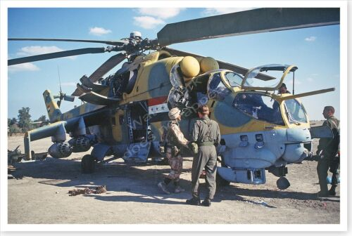 82nd Airborne Inspects Abandoned Iraqi Helicopter Persian Gulf War 8 x 12 PhotoReproductions - 156449