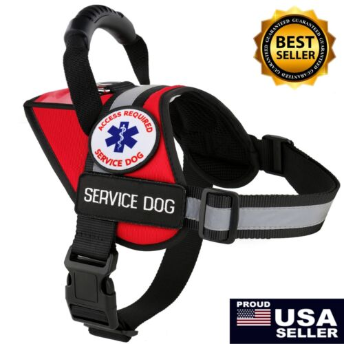 ALL ACCESS CANINE™ Service Dog Vest Harness Reflective Waterproof FREE ADA Cards <br/> ✅AUTHENTIC USA BRAND ✅100% SATISFACTION ✅FREE ADA CARDS