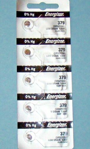 5 Pieces 379 /SR521SW Energizer Watch Batteries  FREE Shipping