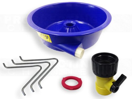 BLUE BOWL PAN GOLD Prospecting CONCENTRATOR Separates Black Sands from Gold