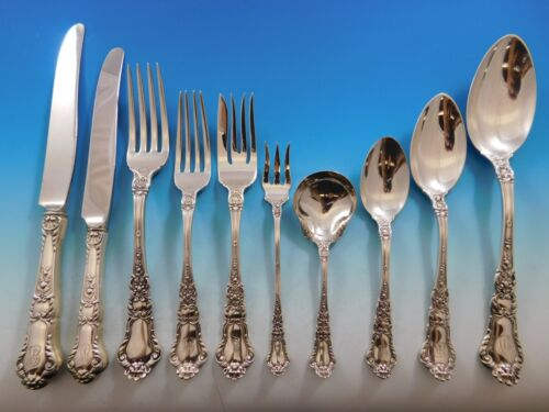 Baronial Old by Gorham Sterling Silver Flatware Set Service 120 pc Lion Dinner