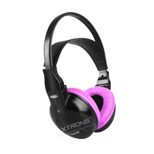 Pink IR Headphones KIDS Infrared Wireless Headset Dual 2 Channel for Car DVD
