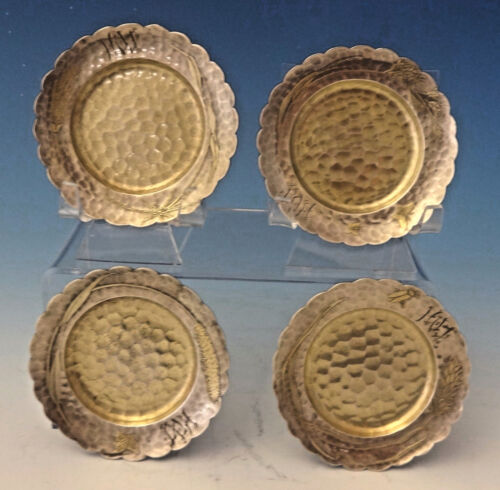 Lap Over Edge Acid Etched by Tiffany Sterling Silver Aesthetic Butter Pats #0058