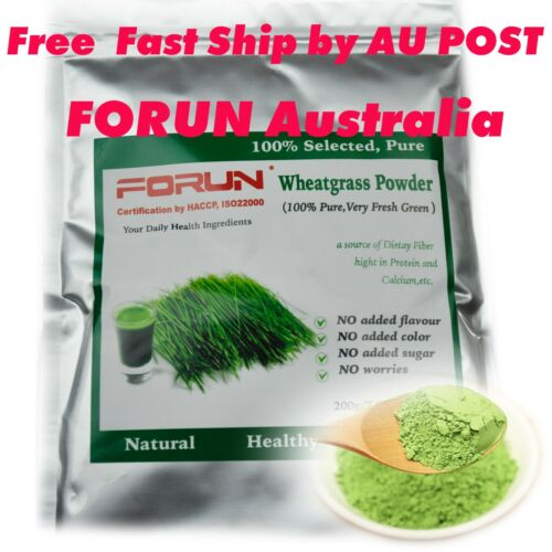 FORUN Organic Wheat Grass Powder 4kg (400g*10bags)-USDA Organic Certified