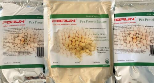 FORUN 100% Organic Pure Pea Protein Isolate Powder 4KG (400g*10bags)