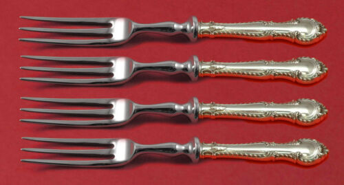 """English Gadroon by Gorham Sterling Silver Fruit Fork Set HHWS 6"""" Custom Made"""