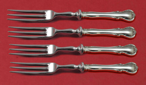 """French Provincial by Towle Sterling Silver Fruit Fork Set 4-Piece 6"""" Custom Made"""