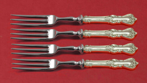 """Marlborough by Reed and Barton Sterling Silver Fruit Fork Set 4pc HHWS 6"""" Custom"""