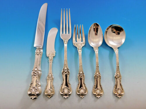 Federal Cotillion by Frank Smith Sterling Silver Flatware Set 8 Service 53 pcs