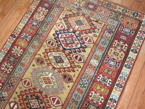 Antique Caucasian Shirvan Kuba Rug Runner Size 3'1''x8'3''