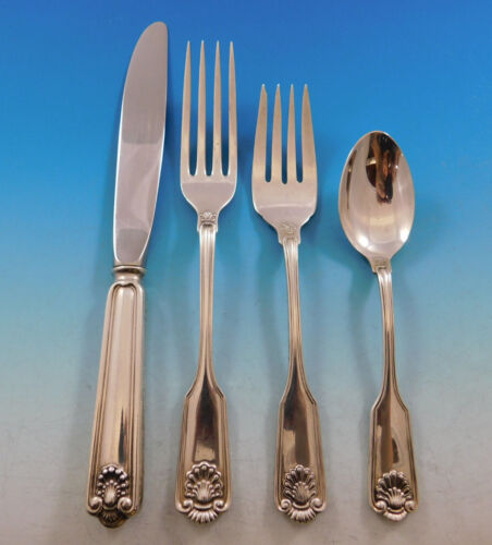 Fiddle Shell by Frank Smith Sterling Silver Flatware Set for 12 Service 48 pcs