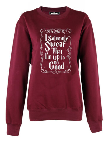 I Solemnly swear that i'm up to no good Crew neck sweatshirt jumper pullover top