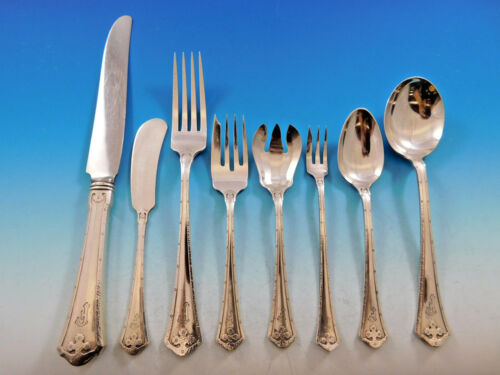 Carmel by Wallace Sterling Silver Flatware Service For 12 Dinner Set 108 Pieces