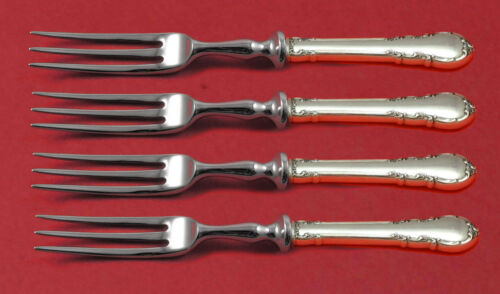 Modern Victorian by Lunt Sterling Silver Fruit Fork Set 4pc HH WS Custom Made 6""