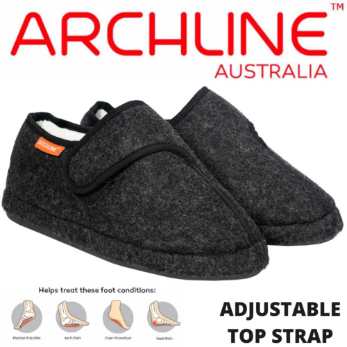 ARCHLINE Orthotic Plus Slippers Closed Scuffs Medical Pain Relief Moccasins