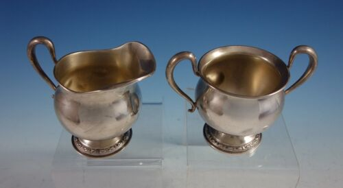 Talisman Rose by Frank Whiting Sterling Silver Sugar and Creamer Set 2pc (#2936)