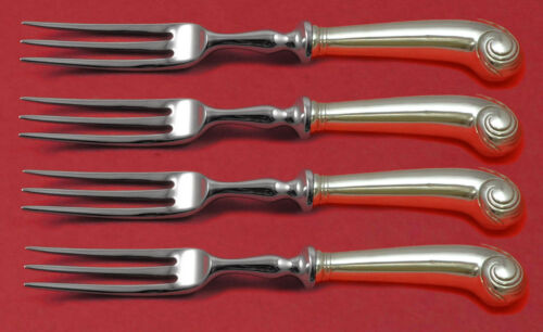 Williamsburg Shell by Stieff Sterling Silver Fruit Fork Set 4-piece Custom 6""