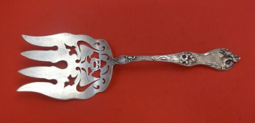 """Les Cinq Fleurs by Reed and Barton Sterling Asparagus Fork Pcd w/Flowers 8 5/8"""""""