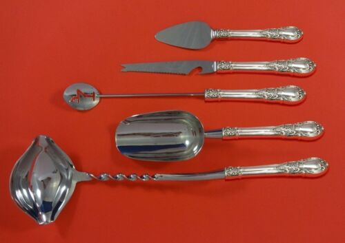 American Victorian by Lunt Sterling Silver Cocktail Party Bar Set 5pc Custom