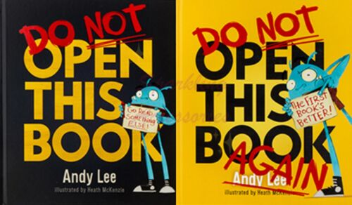 NEW Do Not Read Along with Andy Do Not Open This Book 2 Books Set by Andy Lee!