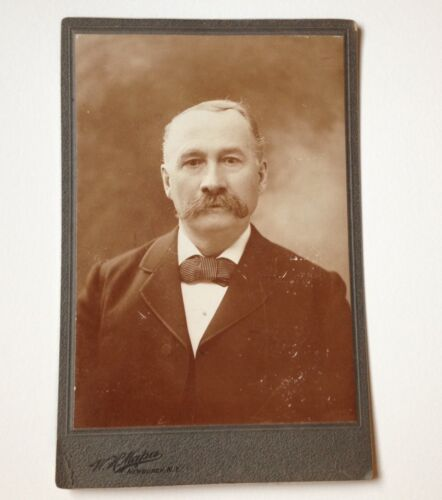 Cabinet Card Photo Newburgh NY ID'd Joe Mabie Antique W H Mapes Photograph