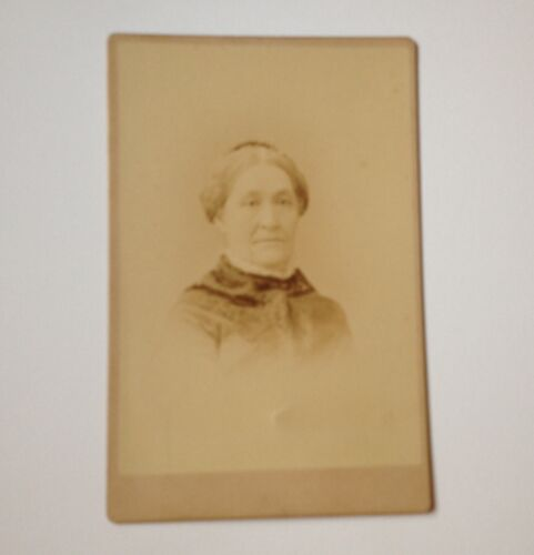 Cabinet Card Photo Hudson NY Older Woman Antique Forshew Photograph