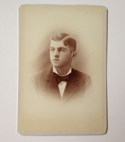 Cabinet Card Photo Scidmore Gloversville NY ID'd Eugene Heacock Antique Vintage