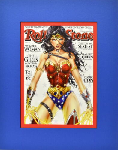 WONDER WOMAN ROLLING STONE Mag COVER PRINT PROFESSIONALLY MATTED Jamie Tyndall