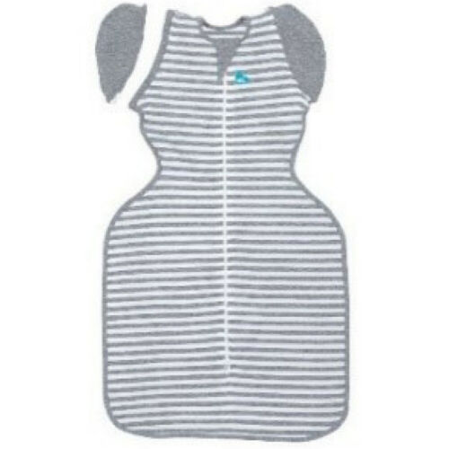 Love to Dream 50/50 Original 1 Tog Swaddle Grey/White Stripe Med FREE SHIPPING