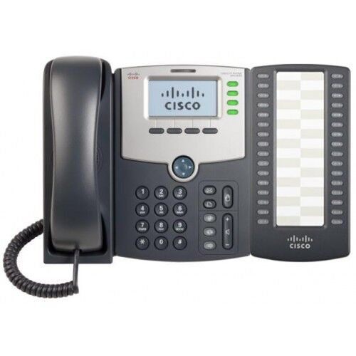 Cisco SPA504G IP Phone With SPA500S Expansion Module + Power Supply Adaptor