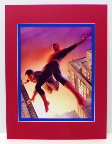 AMAZING FANTASTY 15 TRIBUTE PRINT PROFESSIONALLY MATTED Alex Ross art Spider-Man