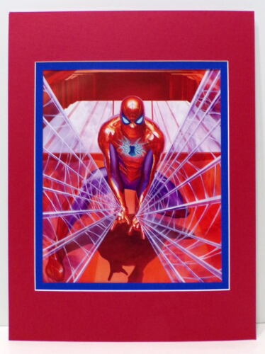 AMAZING SPIDER-MAN Web Slinger PRINT PROFESSIONALLY MATTED Alex Ross art