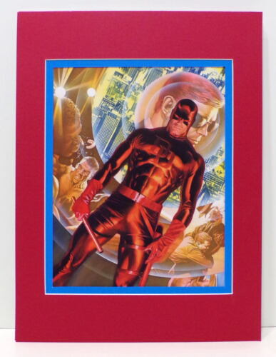 ORIGIN Of DAREDEVIL COLLAGE PRINT PROFESSIONALLY MATTED Alex Ross art