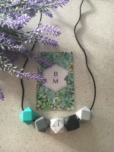 Silicone Necklace for Mum Jewellery Beads Aus Gift (was Teething) Free Post