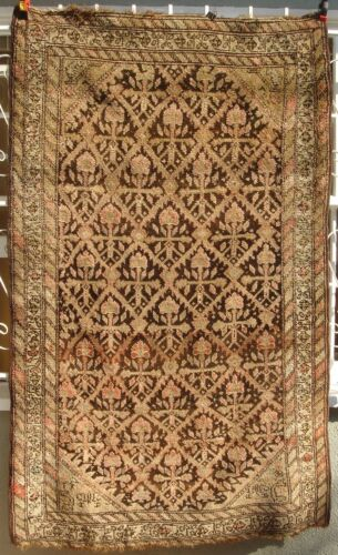 A Great Antique Persian Rug with Flowers