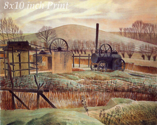 Brickyard by Eric Ravilious - Landscape Steam Traction Engine 8x10 Print 2423