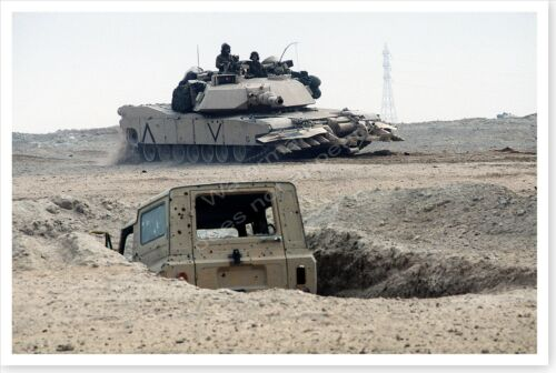 M1A1 Tank Mine Clearing Rollers And Plow Operation Desert Storm 8 x 12 Photo