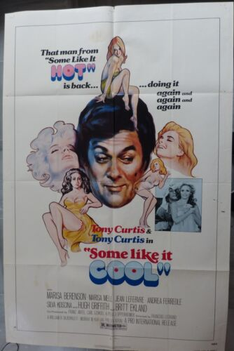 SOME LIKE it COOL MOVIE POSTER Tony Curtis,Marisa Berenson,1 SHEET,Original,Año