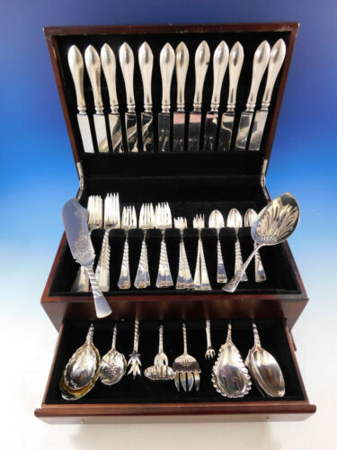 Colonial by Gorham Sterling Silver Flatware Set 12 Service Dinner