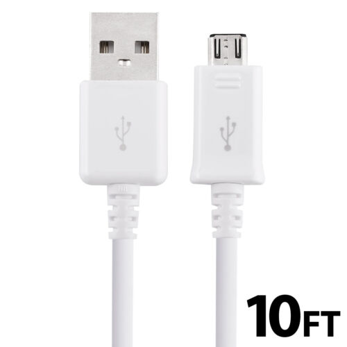 Micro USB Data Sync Charger Fast Charging Cable Cord for Android Samsung LG 10FT