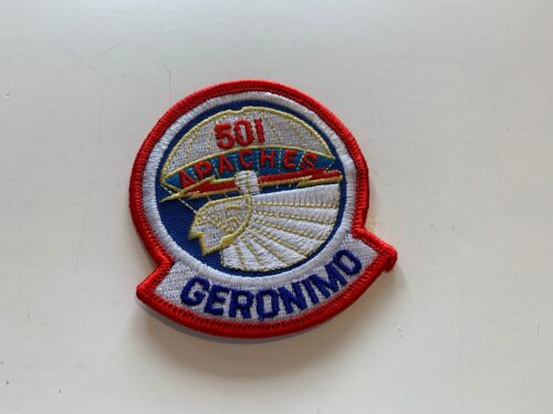 Geronimo Patch, 501 Apaches patch, military patch, parachute patch, NEW patchOther Militaria - 135