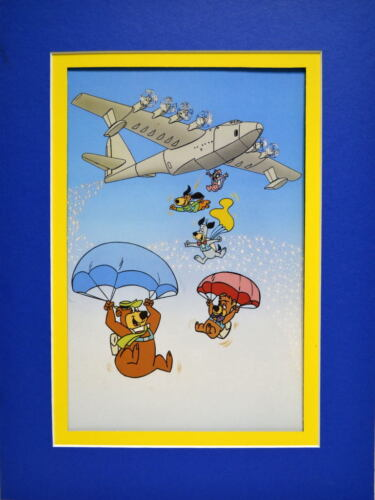 YOGI & The MAGICAL FLIGHT Of The SPRUCE GOOSE Print Professionally Matted HB