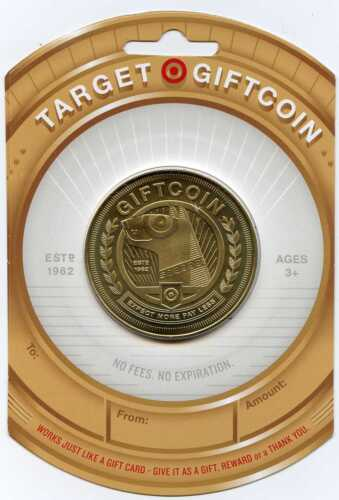 FIVE (5) TARGET GOLD COIN SPECIAL LIMITED EDTION GIFT CARD  SOLD OUT
