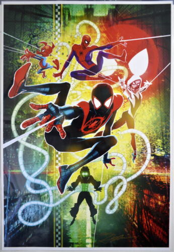 INTO THE SPIDER-VERSE PRINT HAND SIGNED Neal Adams w COA Spider-Man